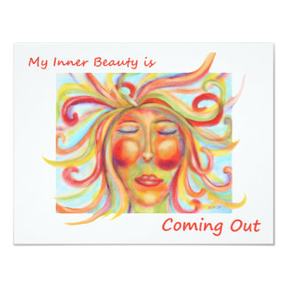 My Inner Beauty Is Coming Out Affirmation Card