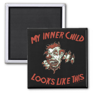 My Inner Child 2 Inch Square Magnet