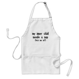 My Inner Child Needs a Nap Aprons