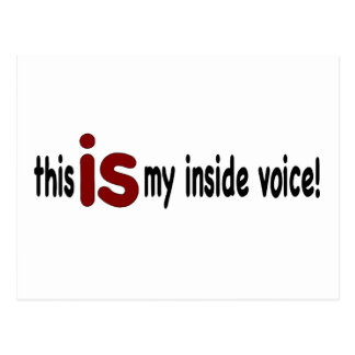 My Inside Voice Postcard