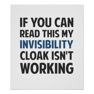 My Invisibility Cloak Isn't Working Poster