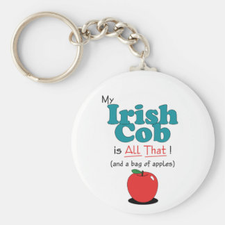 My Irish Cob is All That! Funny Horse Basic Round Button Keychain