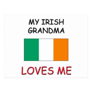 My Irish Grandma Loves Me Postcard