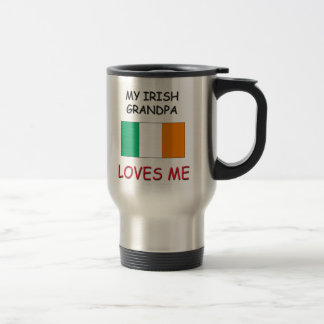 My Irish Grandpa Loves Me 15 Oz Stainless Steel Travel Mug