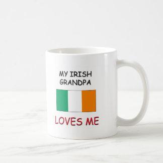 My Irish Grandpa Loves Me Classic White Coffee Mug