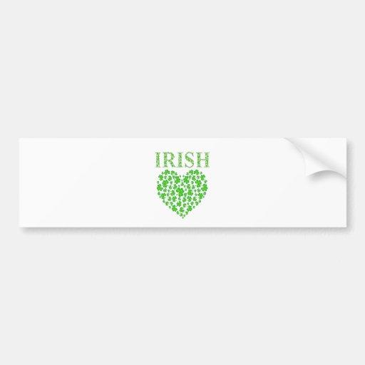 My Irish Heart Bumper Sticker