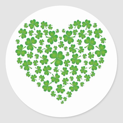 My Irish Heart Round Sticker