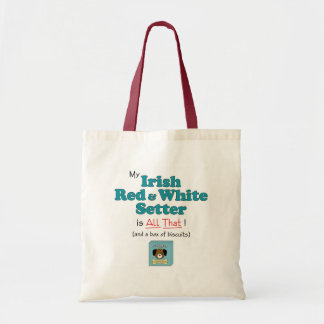 My Irish Red and White Setter is All That! Bag
