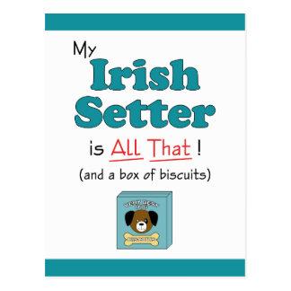 My Irish Setter is All That! Postcard
