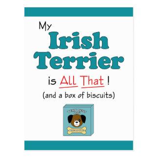 My Irish Terrier is All That! Postcard