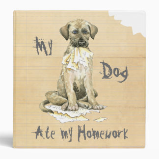 My Irish Wolfhound Ate My Homework 3 Ring Binder