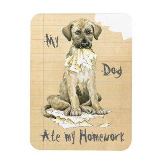 My Irish Wolfhound Ate My Homework Rectangular Photo Magnet
