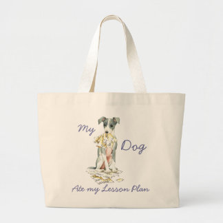 My Italian Greyhound Ate My Lesson Plan Large Tote Bag