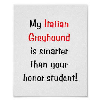 My Italian Greyhound is smarter... Posters
