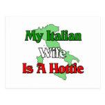 My Italian Wife Is A Hottie Postcard