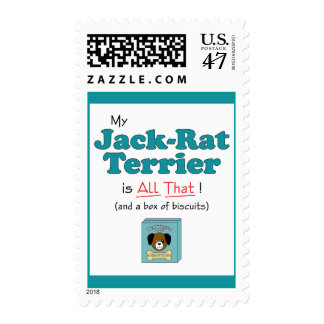 My Jack-Rat Terrier is All That! Postage