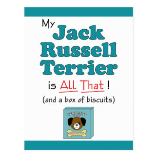 My Jack Russell Terrier is All That! Postcard