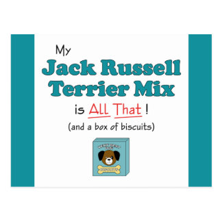 My Jack Russell Terrier Mix is All That! Postcard