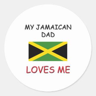 My JAMAICAN DAD Loves Me Sticker