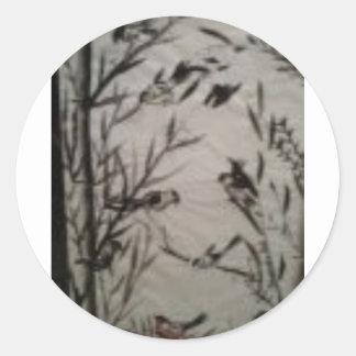 my japaneese sumia round sticker