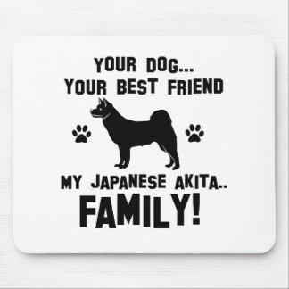 My japanese akita family mouse pad