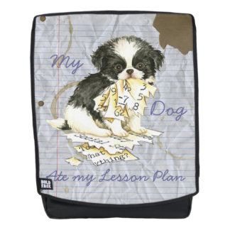 My Japanese Chin Ate my Lesson Plan Backpack