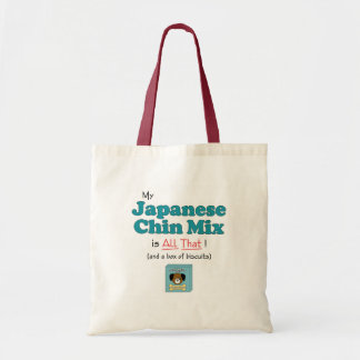 My Japanese Chin Mix is All That! Budget Tote Bag