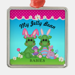 My Jelly Bean Babies Dragon Easter Bunny Ornament