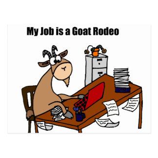 My Job is a Goat Rodeo Design Postcard