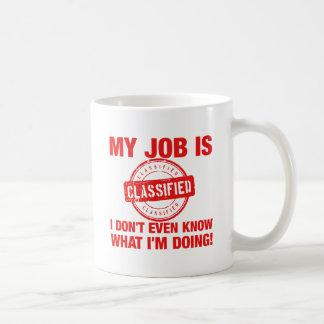 my job is classified, I.... Coffee Mug