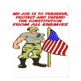 My Job Is To Defend The Constitution Against All Postcard
