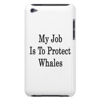 My Job Is To Protect Whales Barely There iPod Covers