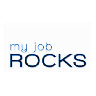My Job Rocks Double-Sided Standard Business Cards (Pack Of 100)