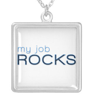 My Job Rocks Silver Plated Necklace