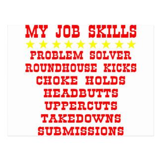 My Job Skills; Kicks, Chokes, Submissions Postcards