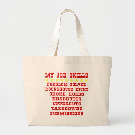 My Job Skills Problem Solver Kicks Punches Tote Bags