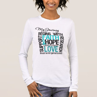 My Journey Begins With Faith Tourette Syndrome Long Sleeve T-Shirt