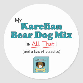 My Karelian Bear Dog Mix is All That Stickers