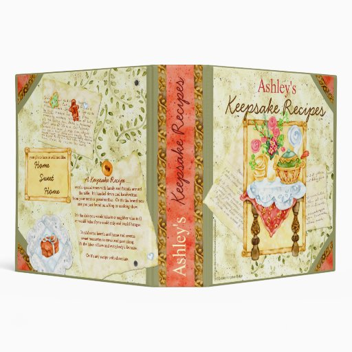 My Keepsake Recipes Binder