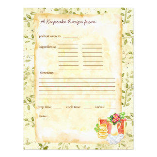 My Keepsake Recipes Pages
