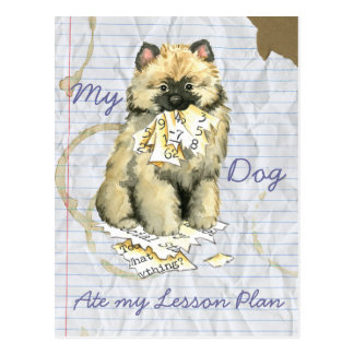 My Keeshond Ate My Lesson Plan Postcard
