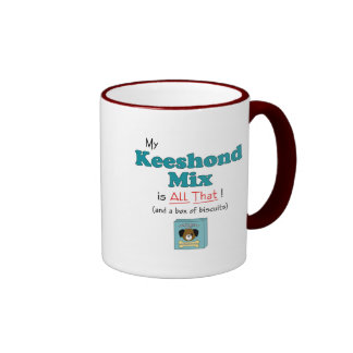 My Keeshond Mix is All That! Ringer Coffee Mug