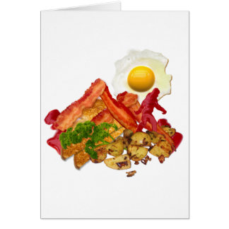 My Ketchup Gone Squatchin for Bacon Decor Card