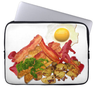 My Ketchup Gone Squatchin for Bacon Mountain Laptop Sleeve