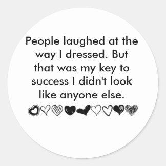My key to success....... classic round sticker