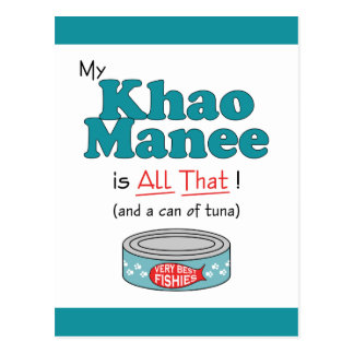 My Khao Manee is All That! Funny Kitty Postcard