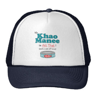 My Khao Manee is All That! Funny Kitty Trucker Hat