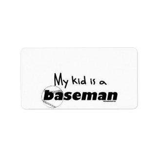 My Kid is a Baseman Label