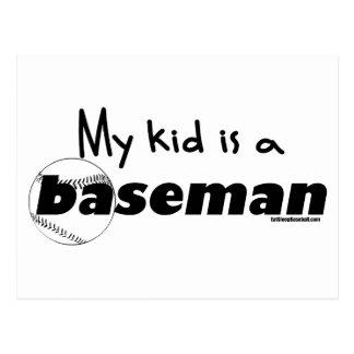 My Kid is a Baseman Postcard