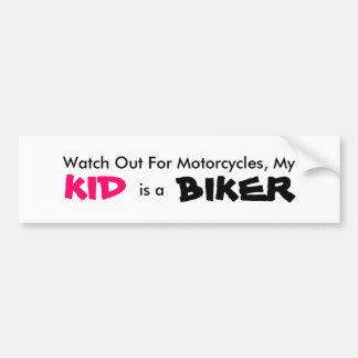My Kid is a Biker Bumper Sticker